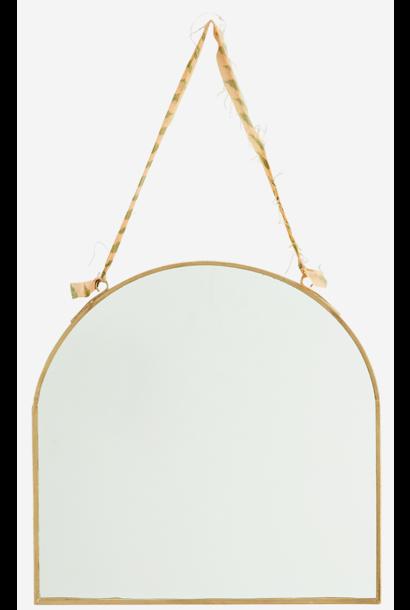 Spiegel hanging 23x23cm Gold