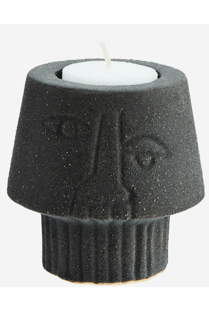 Waxinehouder 8x8cm Black