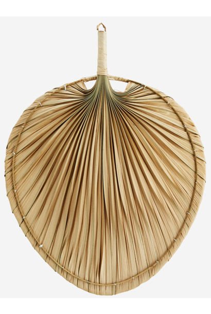 Wanddecoratie palm leaves 40x55cm Natural