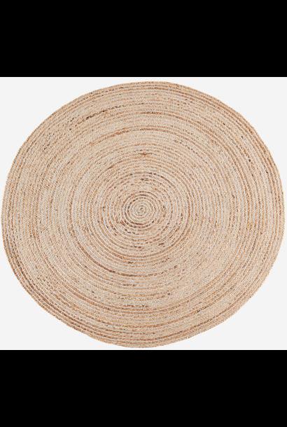 Vloerkleed Round jute w/ stripes Ø120cm Natural