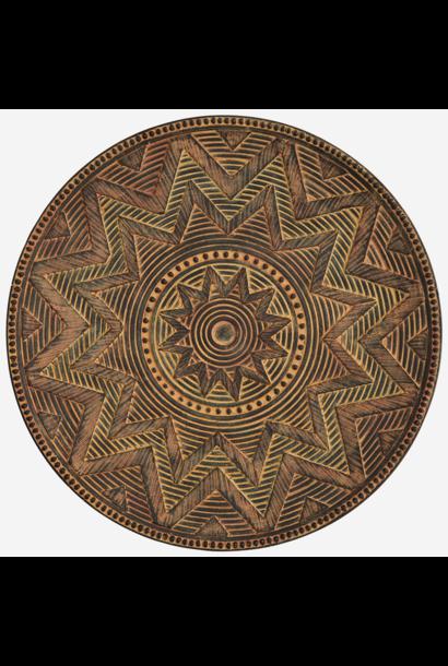 Schaal Fibre clay 50cm Dark Brown
