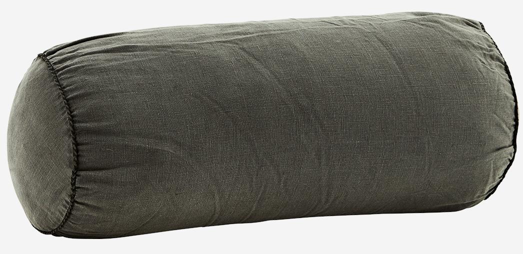 Kussen Linen bolster 20x50cm Charcoal-1