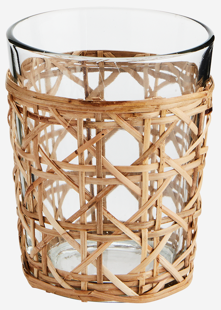 Drinkglas w/ bamboo cane 9x12cm Natural-1