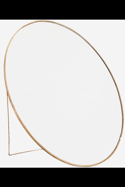 Spiegel Round standing 38cm Gold