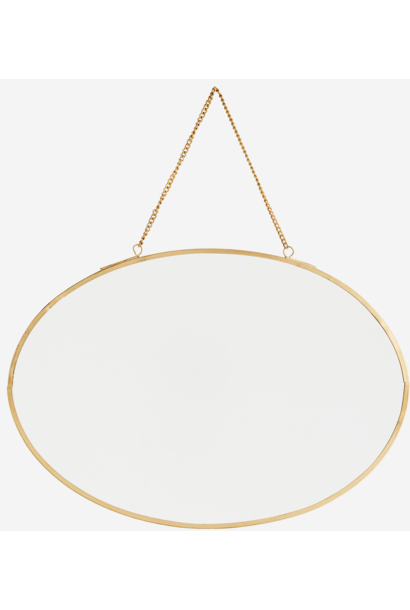 Spiegel Oval hanging 30x21cm Gold