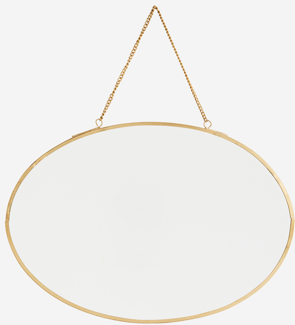 Spiegel Oval hanging 30x21cm Gold-1