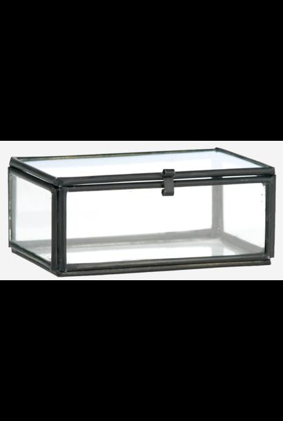 Box Glass 8.5x6x3.5cm Black