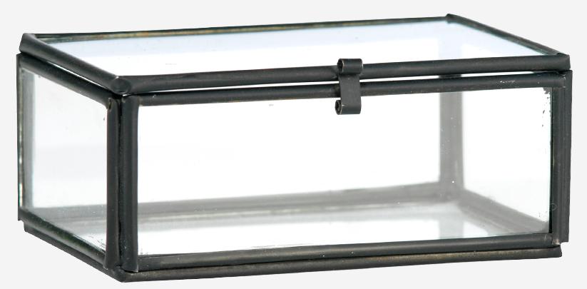 Box Glass 8.5x6x3.5cm Black-1
