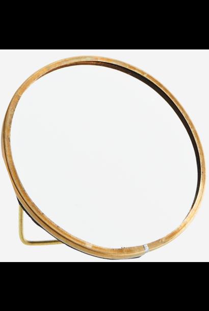 Spiegel Round standing 10cm Gold