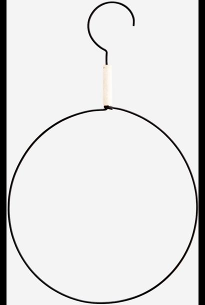 Hangdecoratie round hanger 35cm Black