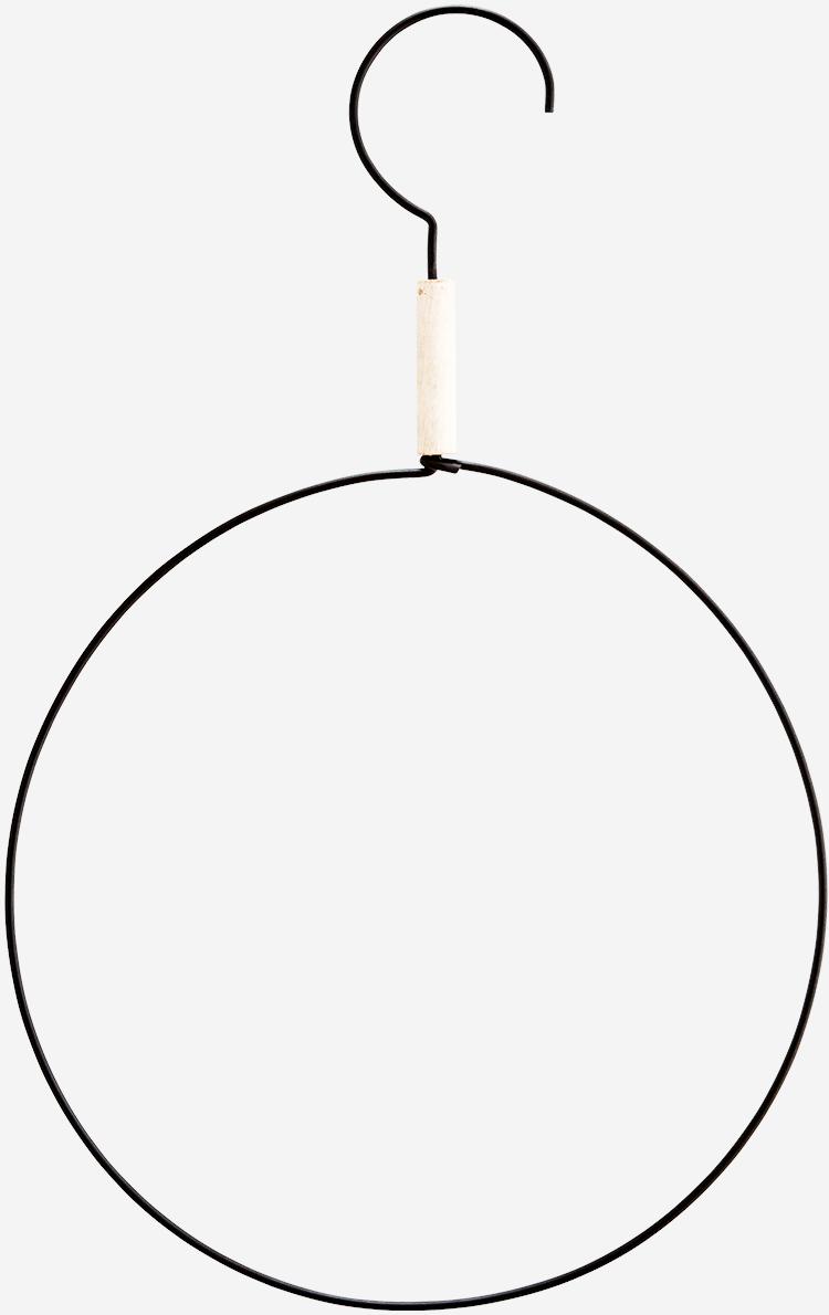 Hangdecoratie round hanger 35cm Black-1