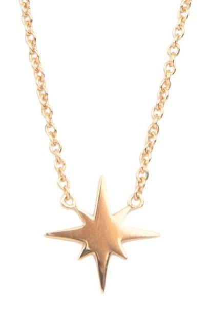 Ketting Souvenir Star burst Gold
