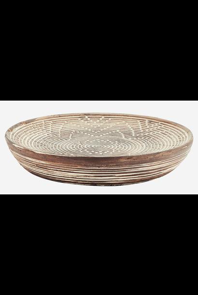 Schaal Fibre clay 27cm Dark Brown