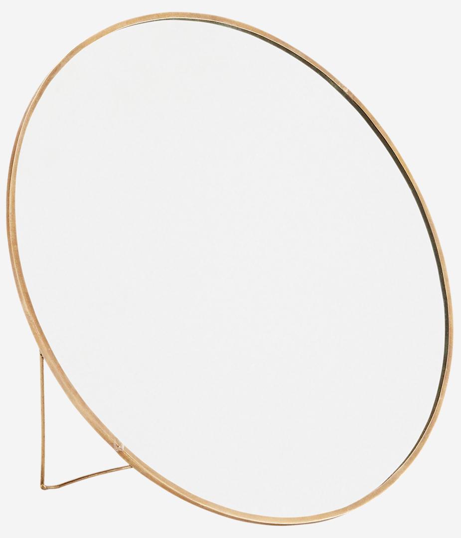 Spiegel Round standing 27cm Gold-1