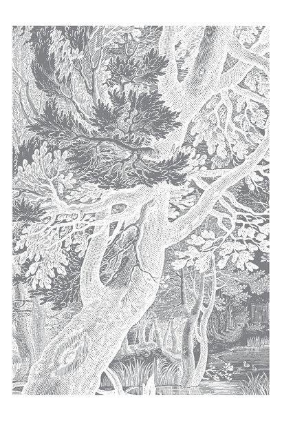 Fotobehang Engraved Landscapes 194.8x280cm