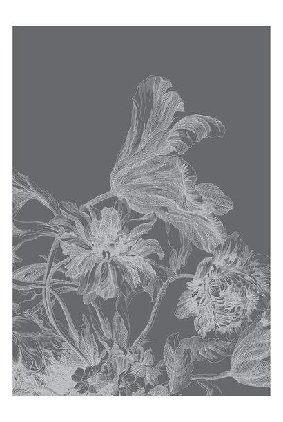 Fotobehang Engraved Flowers 194.8x280cm