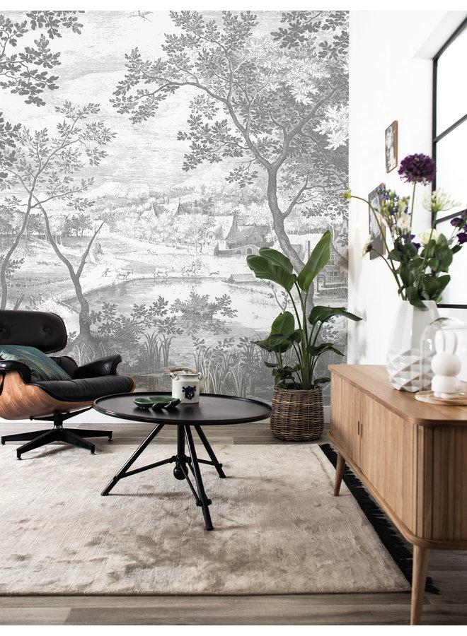 Fotobehang Engraved Landscapes 292.2x280cm