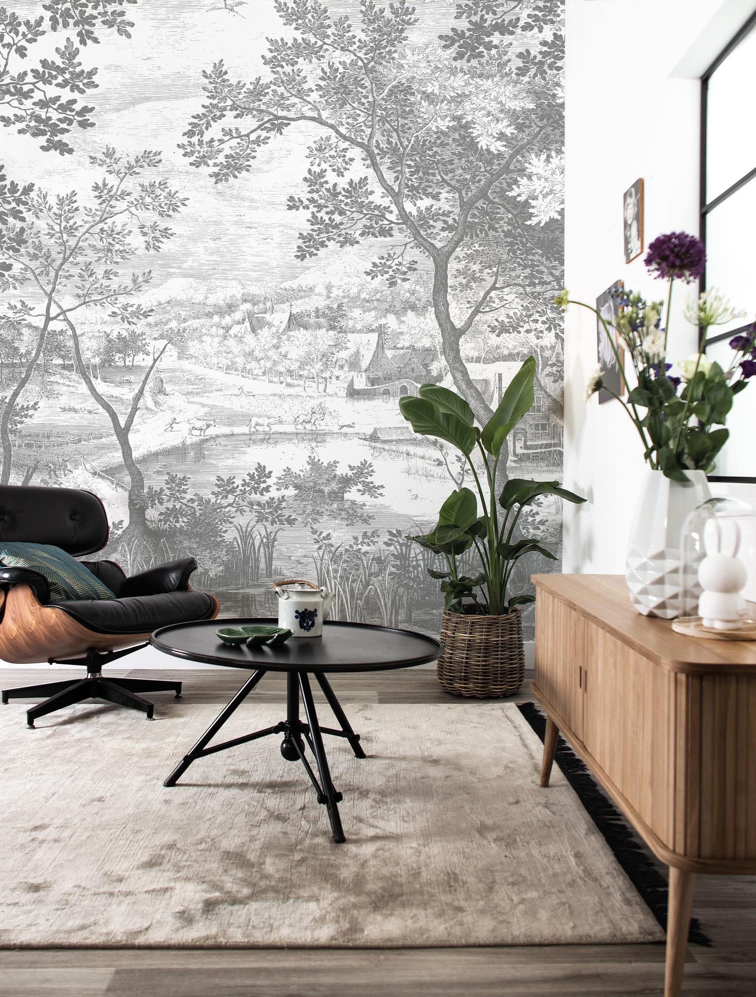 Fotobehang Engraved Landscapes 292.2x280cm-2
