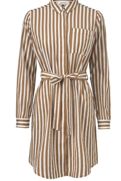 Jurk Barbette Warm Camel stripe