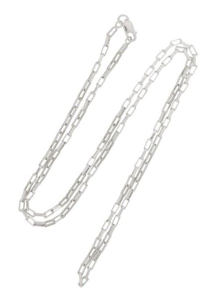 Ketting Long Link 45cm Sterling Silver
