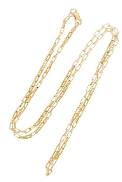 Ketting Long Link 45cm Goud Verguld