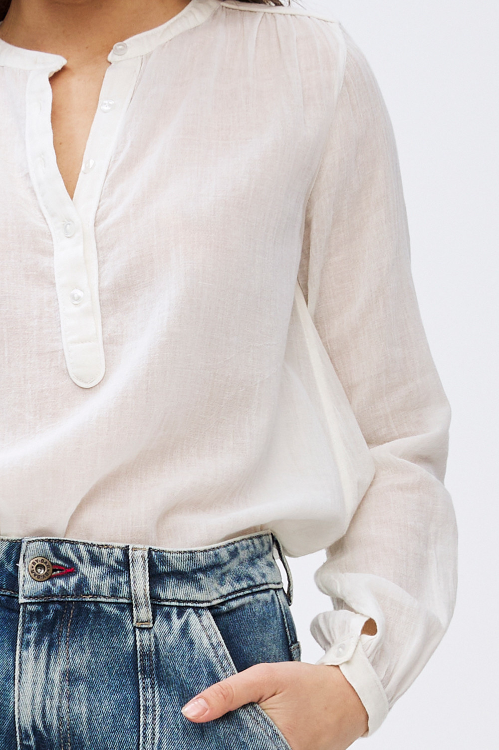 Blouse Lois jet Off White-3