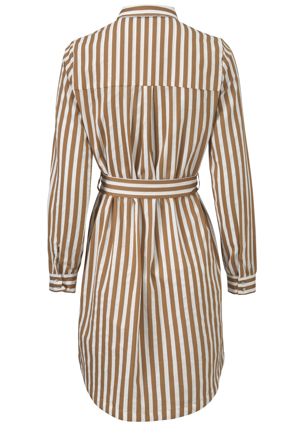 Jurk Barbette Warm Camel stripe-4