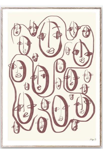 Poster Random faces 30x40cm