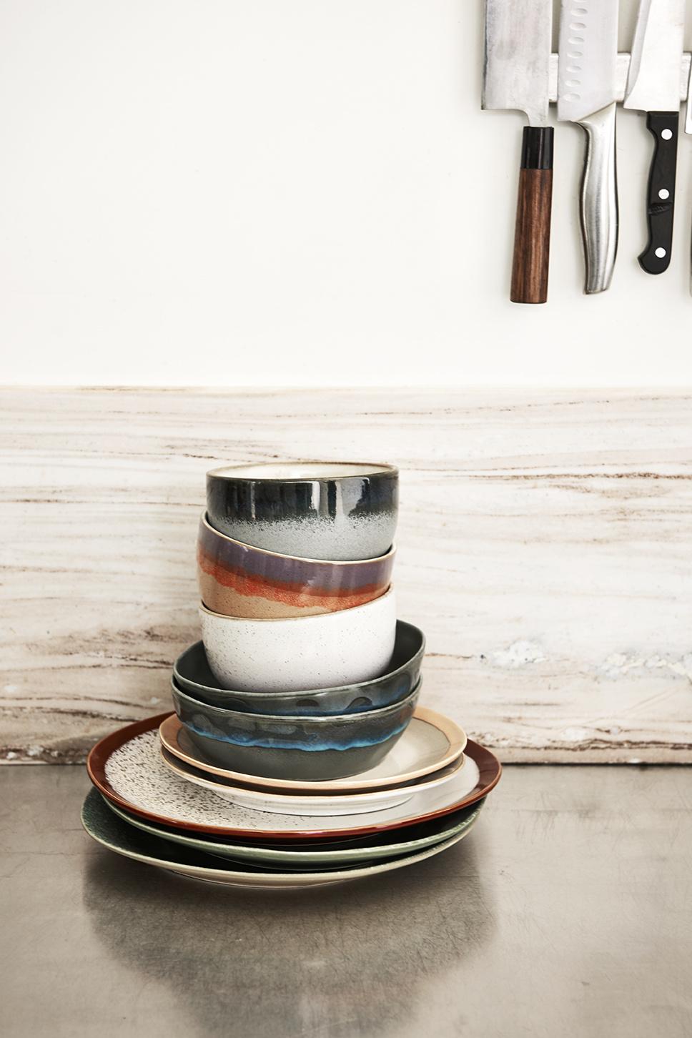 Bord ceramic 70's dinner Grass-4
