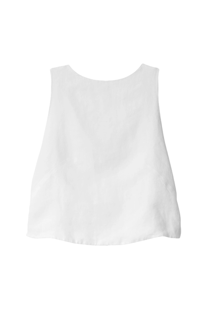 Top knot linen white