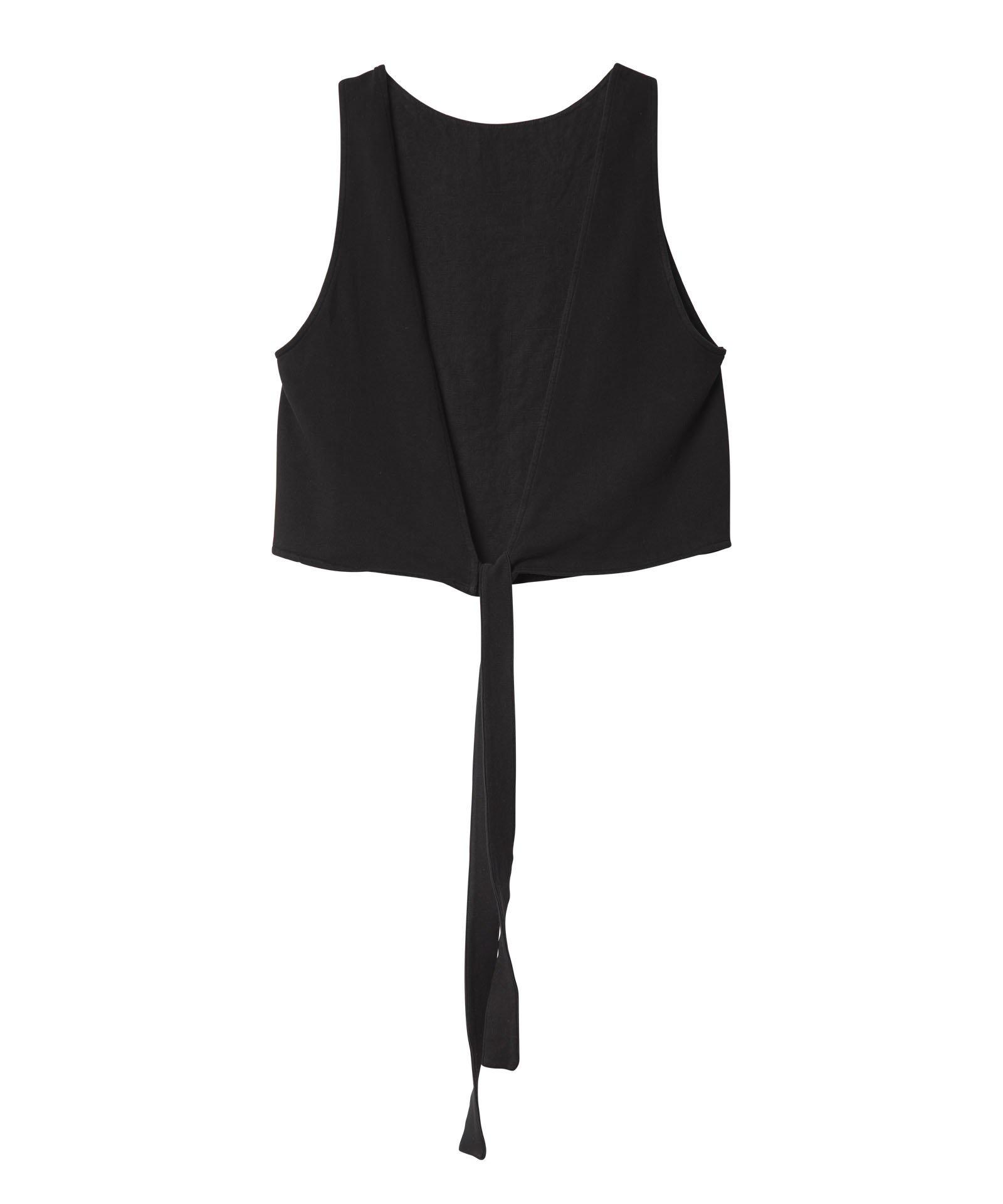 Top knot linen black-3