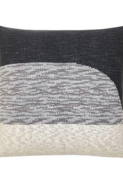 Kussen Sunset knitted 50x50cm Black