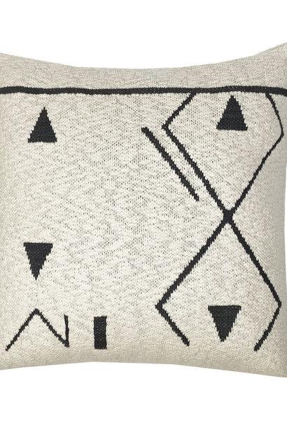Kussen Fantasy line knitted 50x50cm Off white