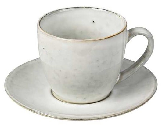 Mok Nordic Sand Cup w/saucer S-1