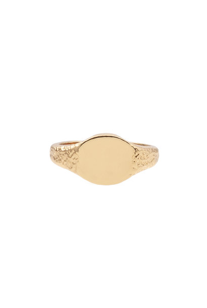 Ring chérie signet oval gold