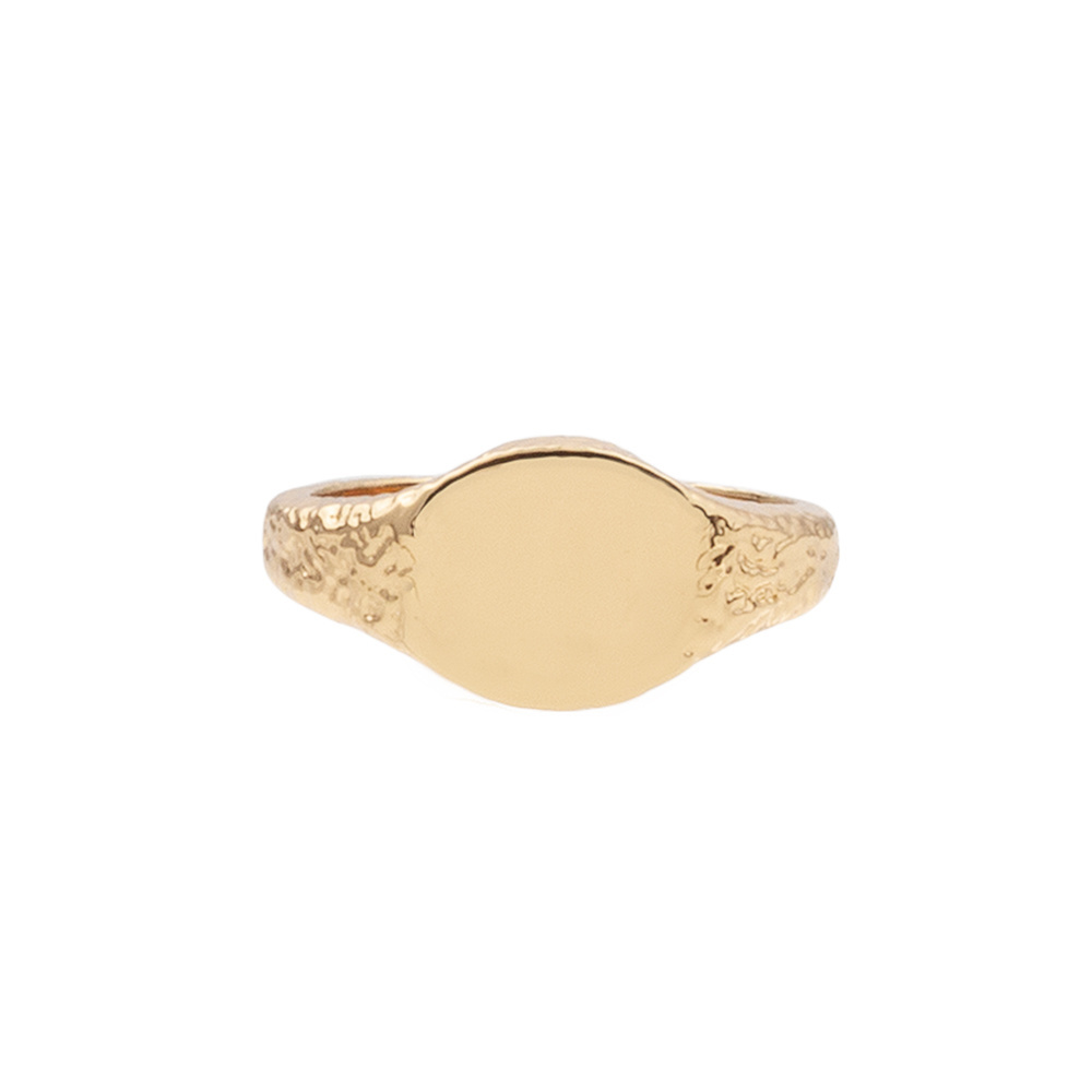 Ring chérie signet oval gold-1