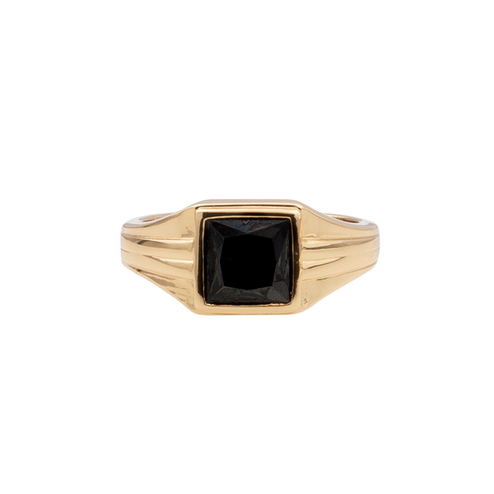 Ring chérie square black-1