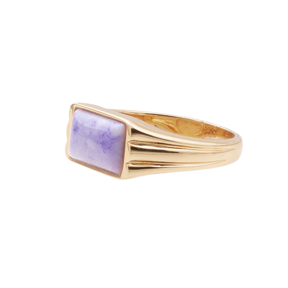 Ring rectangle marble lilac-3