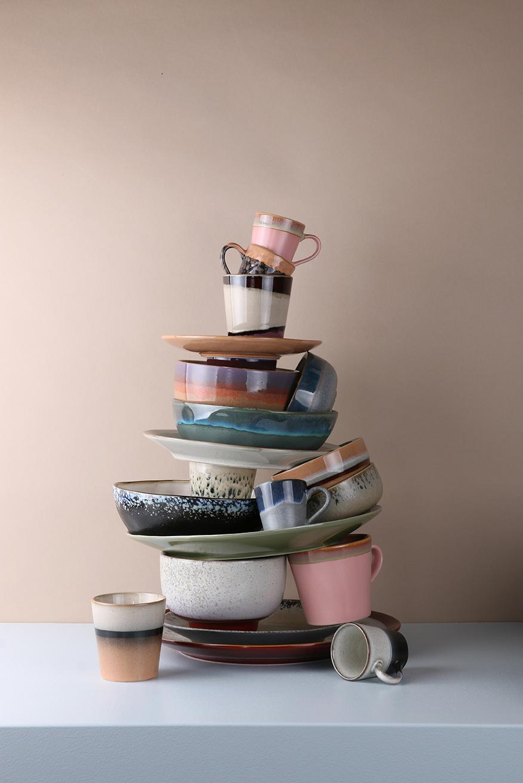 Mok ceramic 70's espresso 6x8cm Pink-2