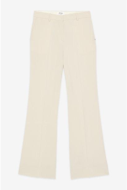 Broek Pantalone ecru elastaan