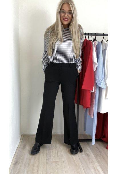 Broek Pantalone nero elastaan