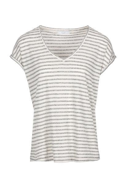 T-shirt MiIa stripe Linen