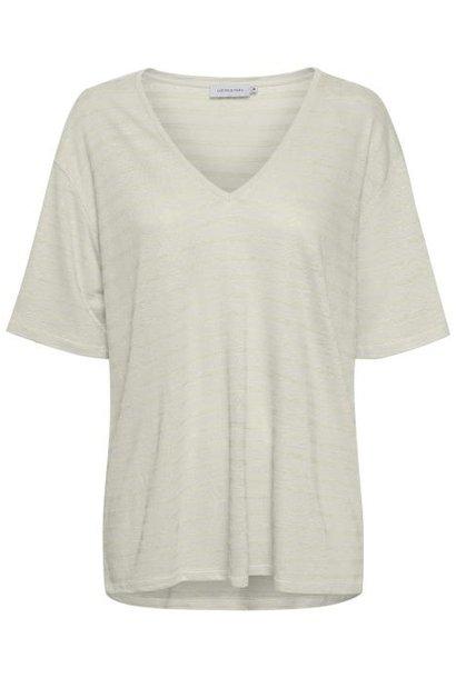 T-shirt Stassie Striped Chalk