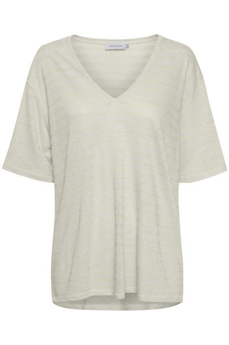 T-shirt Stassie Striped Chalk-1