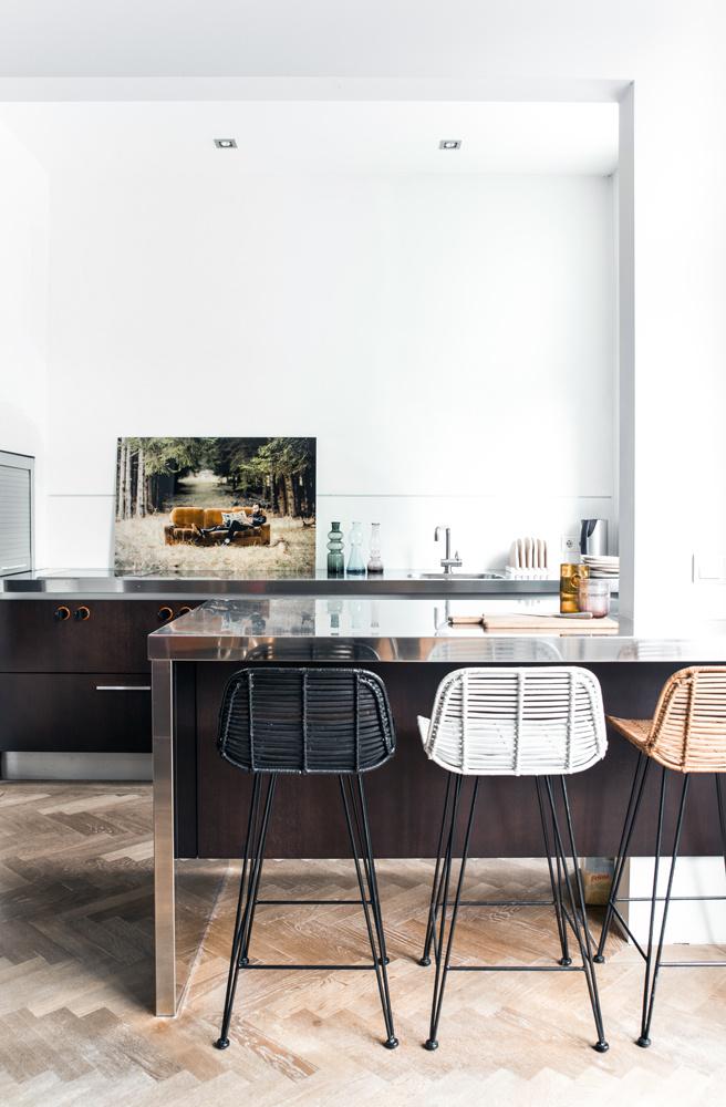 Barstoel rattan bar stool 42x47x89cm Natural-3