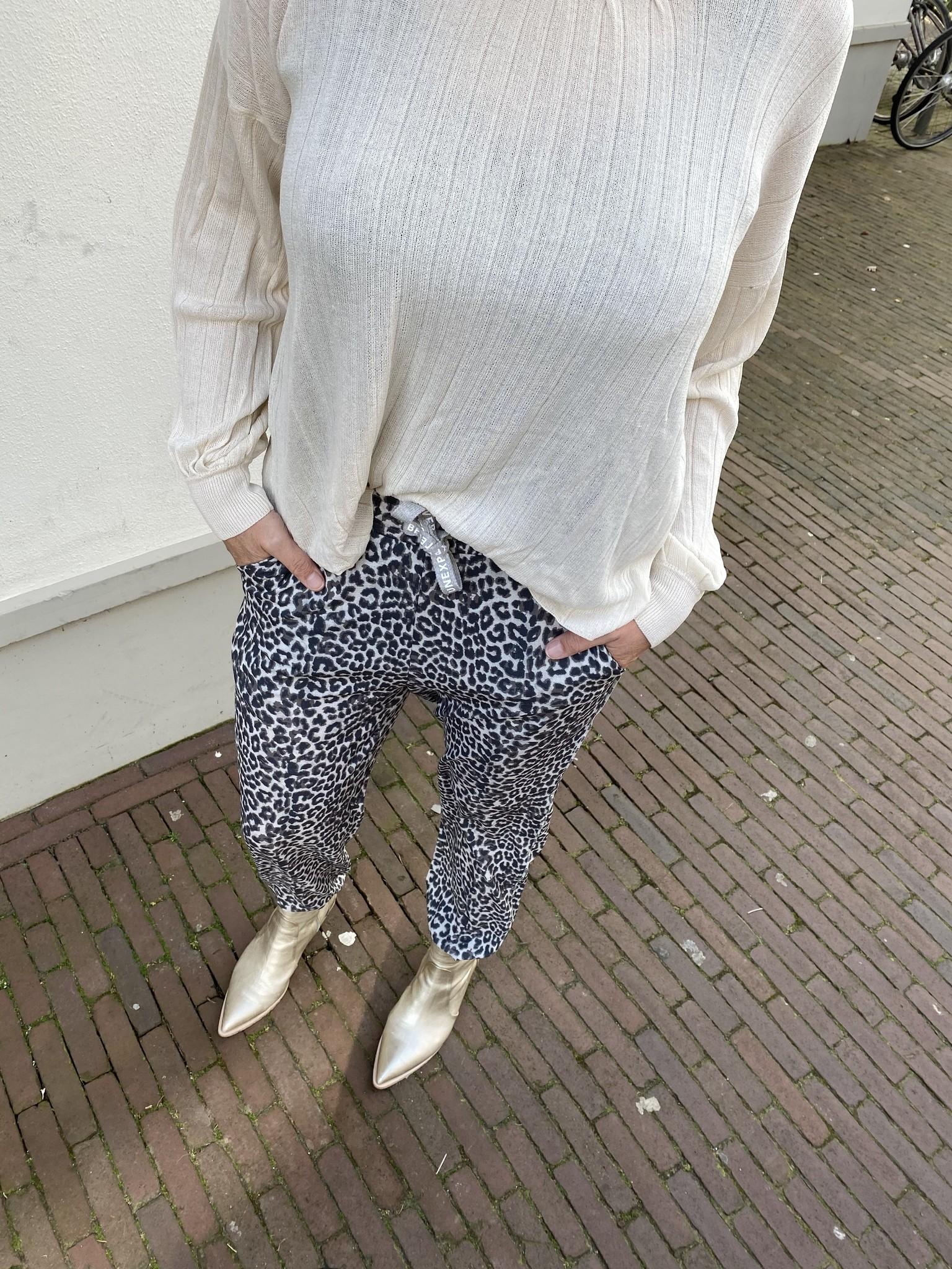 Broek Leopard White Sand-7