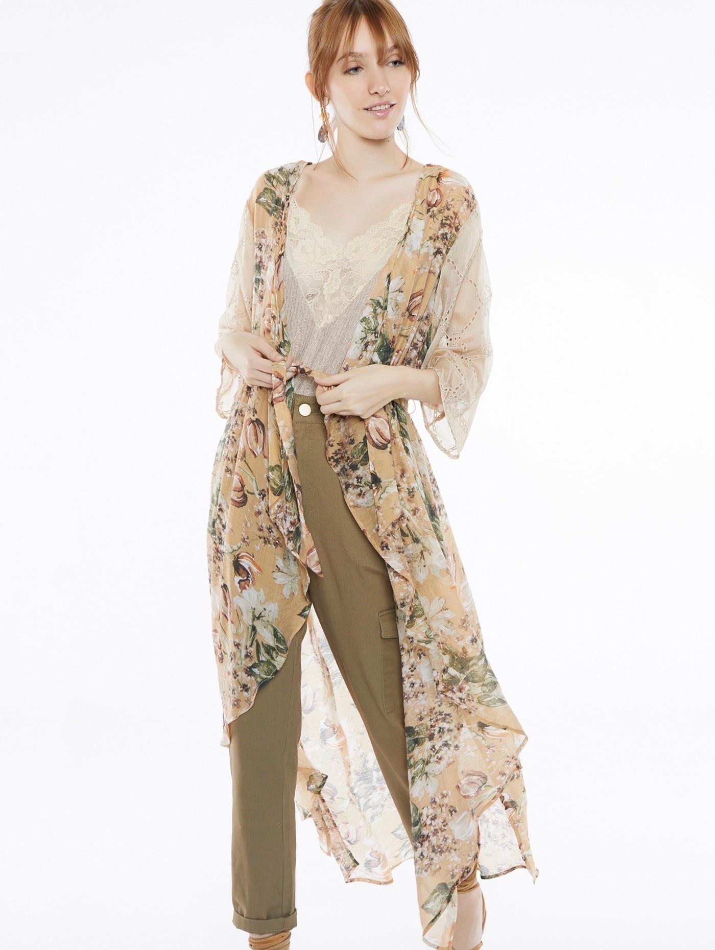 Vest romantic flower  one size-1
