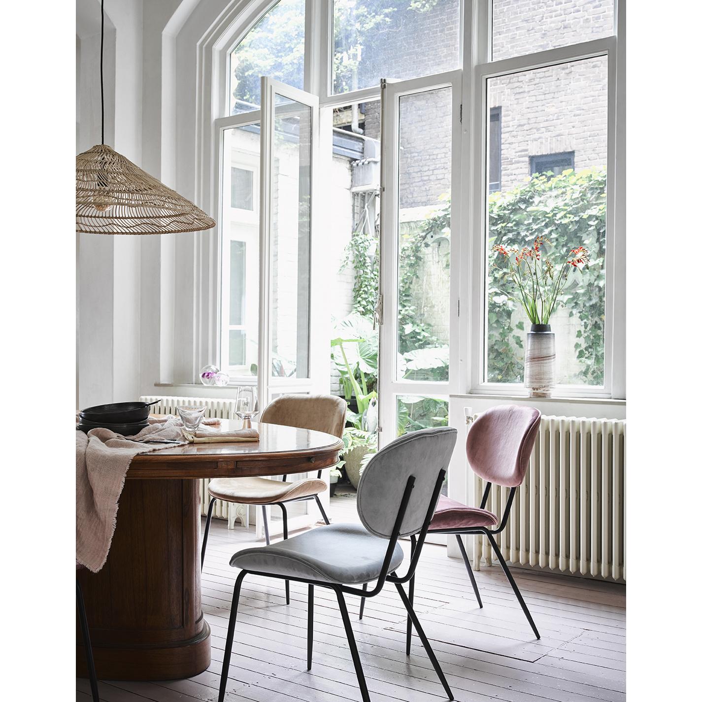 Stoel dining chair rib crème-2
