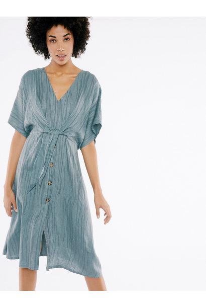 Jurk short sleeve midi blue