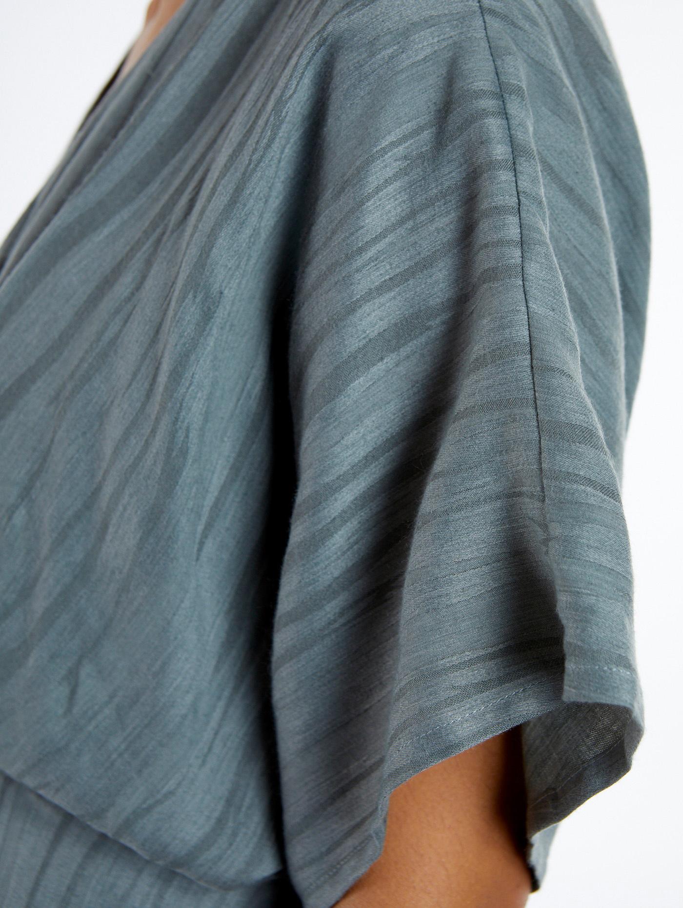 Jurk short sleeve midi blue-4